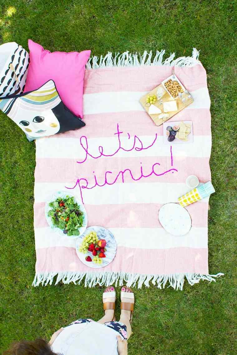 manta-de picnic bordada