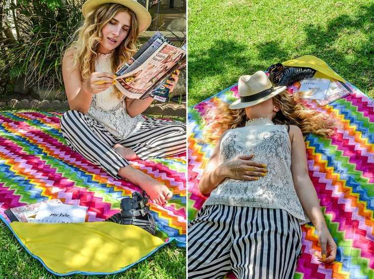 manta-de picnic con-bolsillo