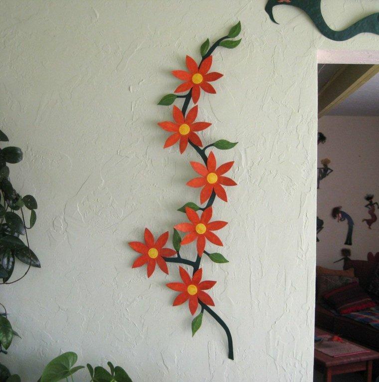 manualidades faciles-metal-flores