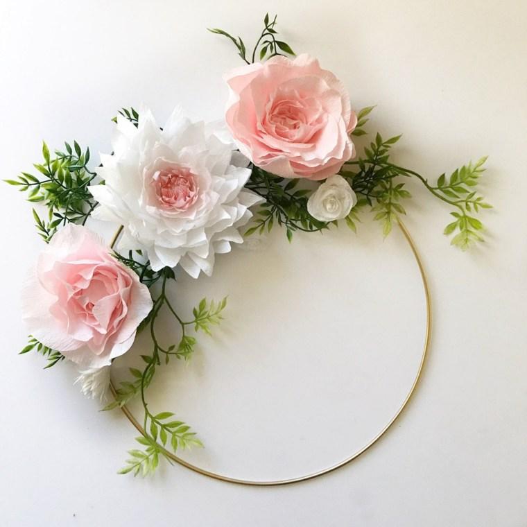 manualidades para decorar-paredes-flores