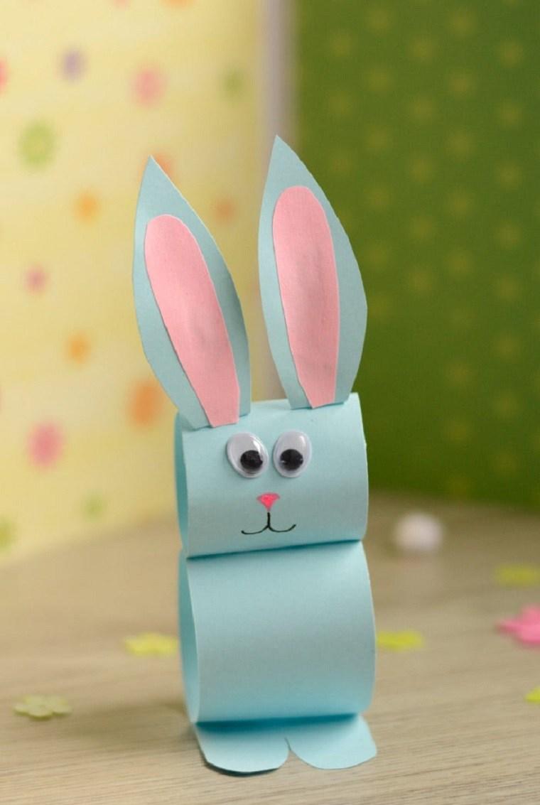 manualidades para niños-conejo-papel-opciones-conejo