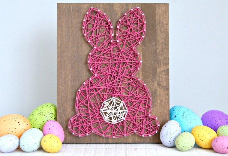manualidades-para-ninos-primavera-ideas-conejo-cuadro-bello
