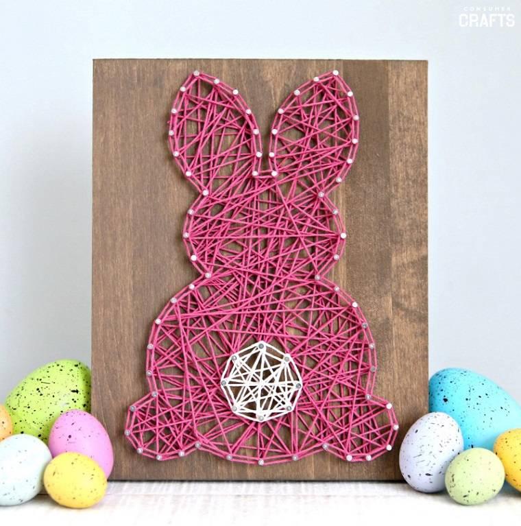 manualidades-para-ninos-primavera-ideas-conejo-cuadro