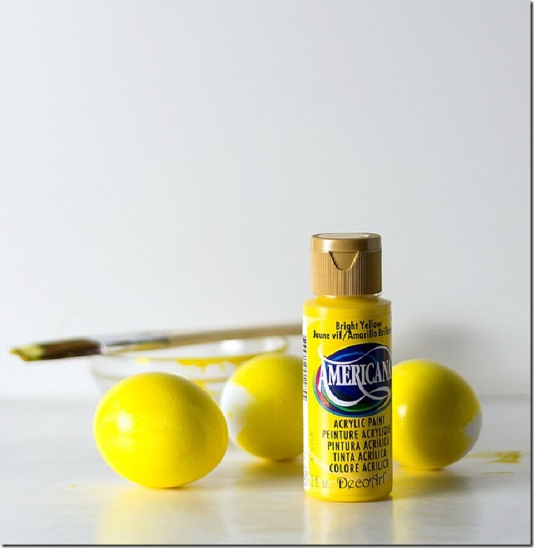 manualidades para niños-primavera-ideas-huevos-pintura