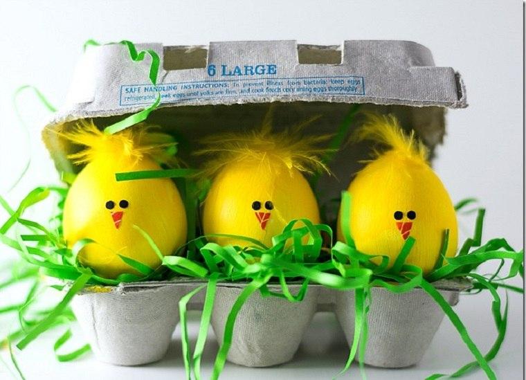 manualidades para niños-primavera-ideas-huevos