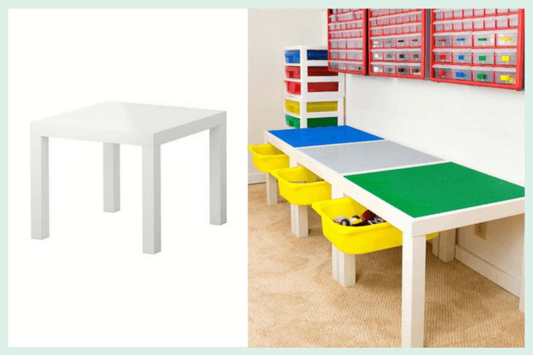 Mesa para las piezas de Lego