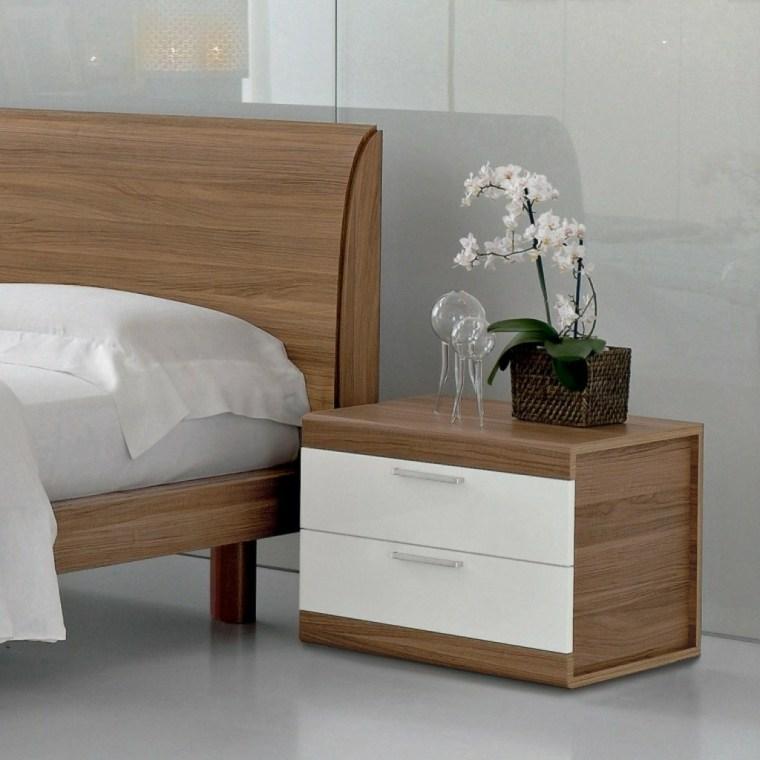 mesas de madera-noche-cajones-blancos