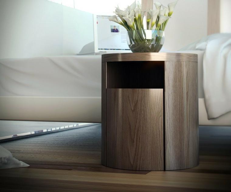 mesas de madera-noche-originales-dormitorios