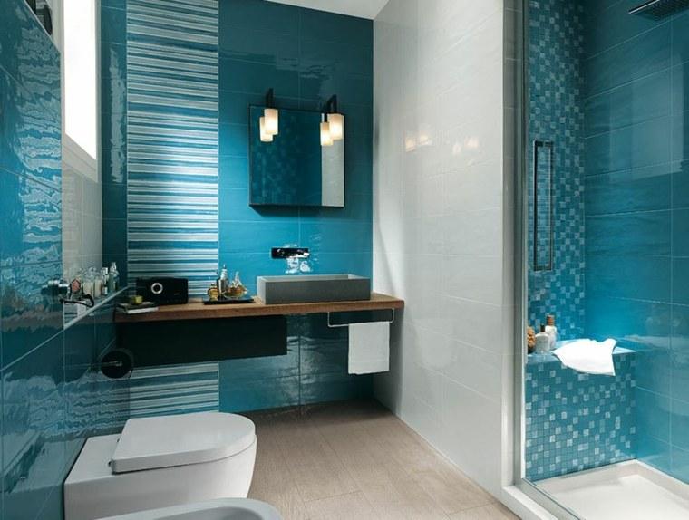 modelos de banos-decorados-azules