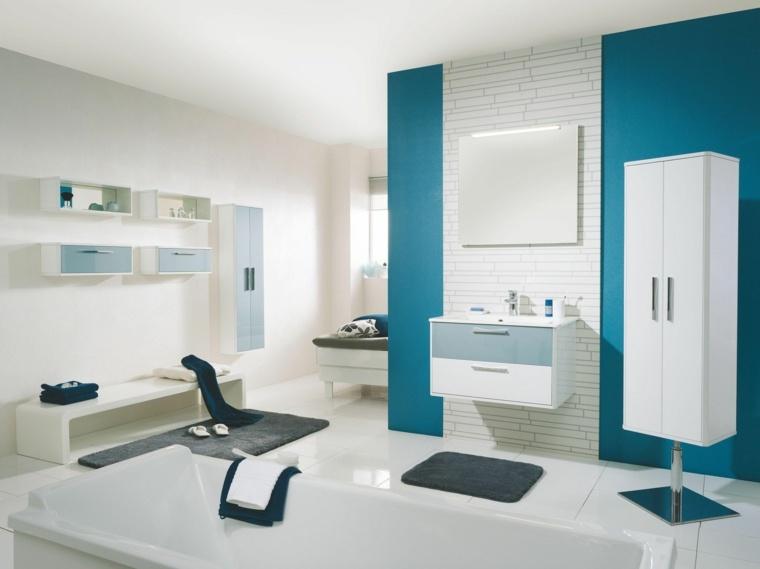 modelos de banos modernos-azul