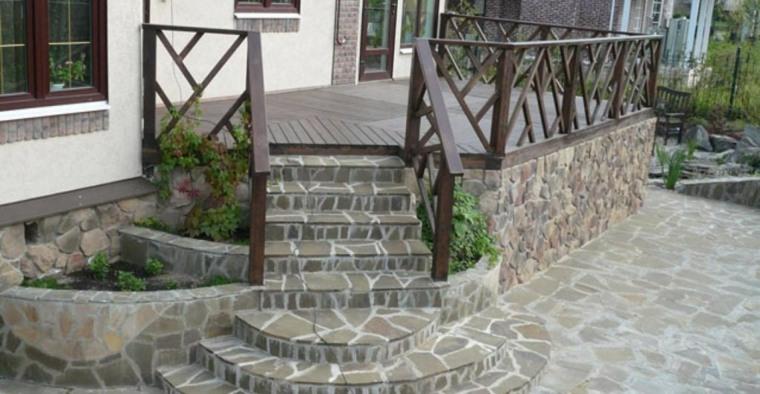Dise o de escaleras exteriores para jardines modernos for Modelos de escaleras exteriores