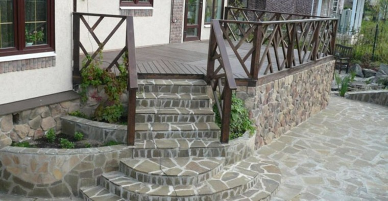Dise o de escaleras exteriores para jardines modernos for Escaleras exteriores