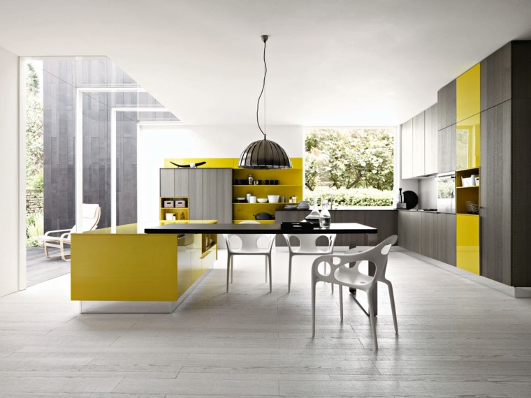 muebles modernos ideas amarillo