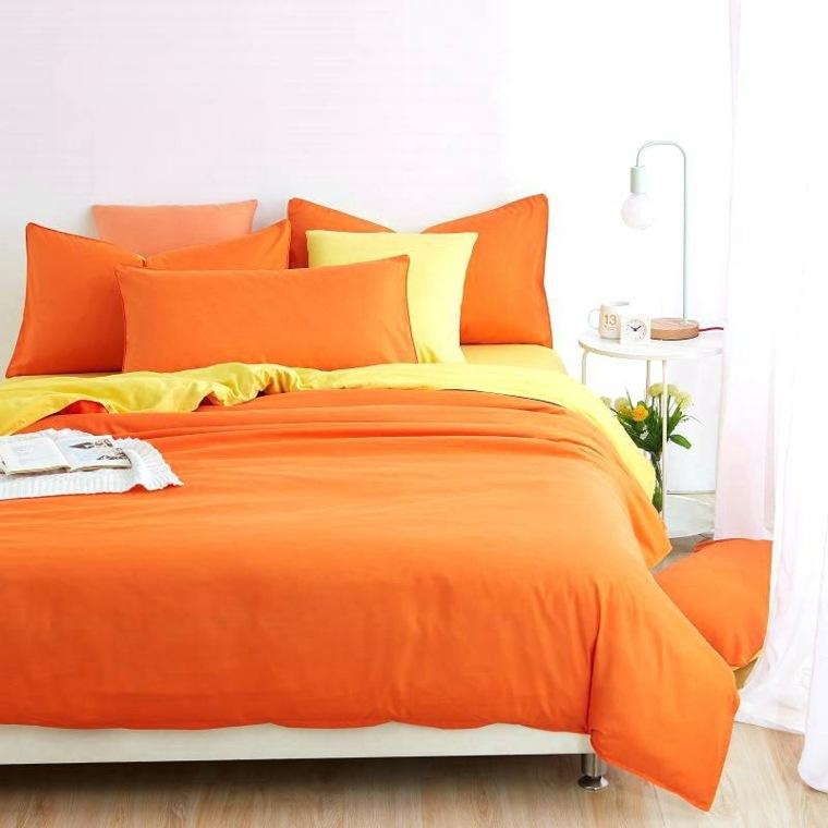 muebles recamaras-pequenas-naranja-amarillo