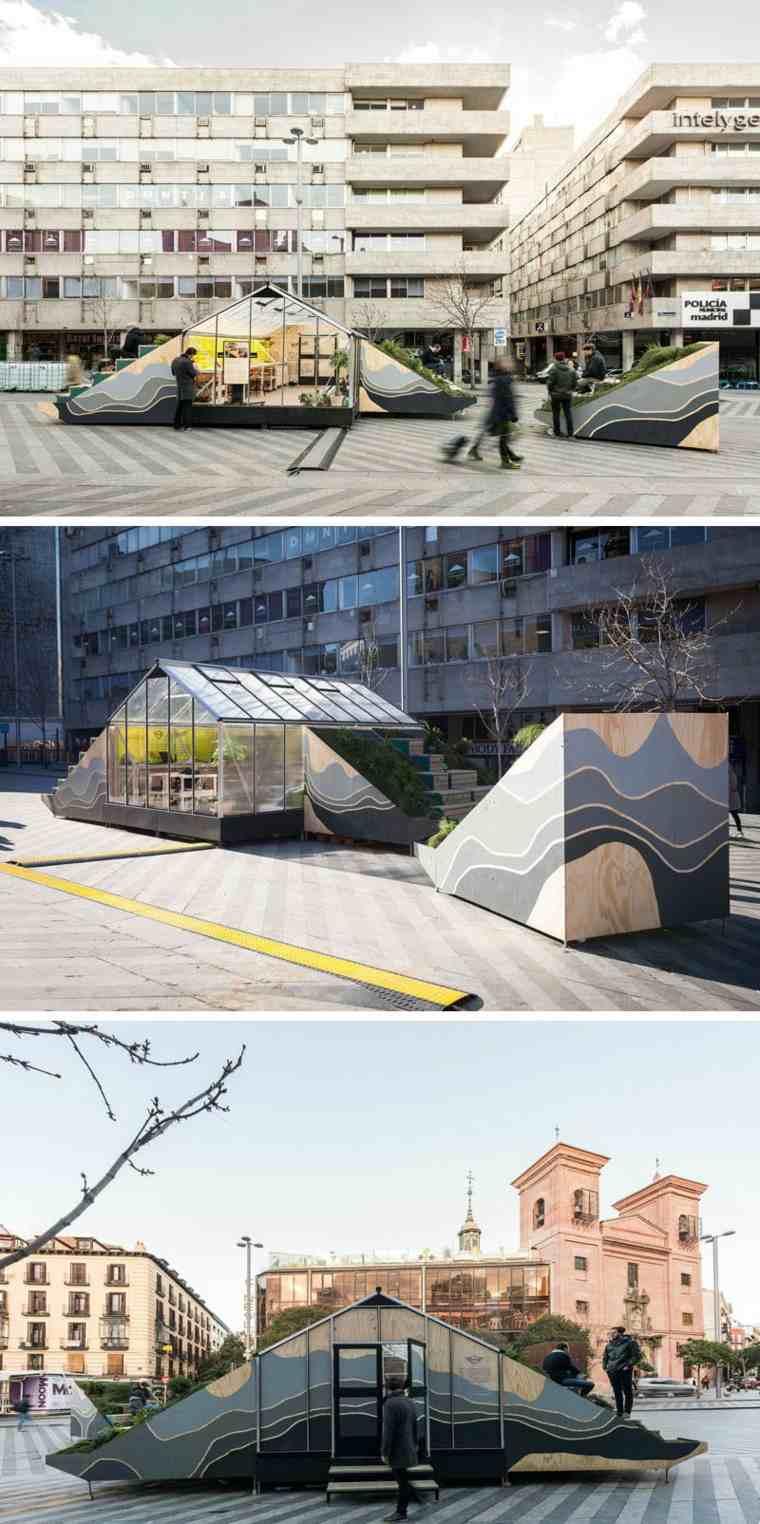 estructura con oficina movil