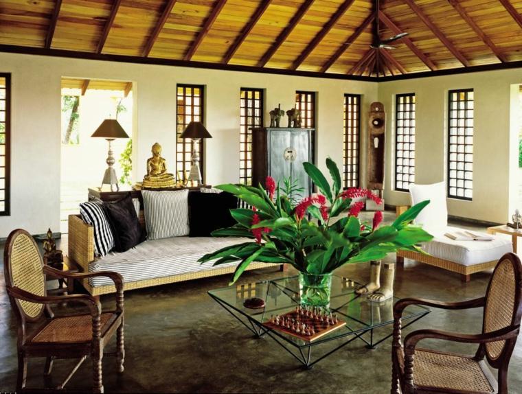 Salón de estilo colonial - elegancia y buen gusto atemporal -