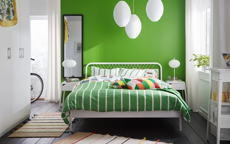 pared-color-verde-estilo-moderno