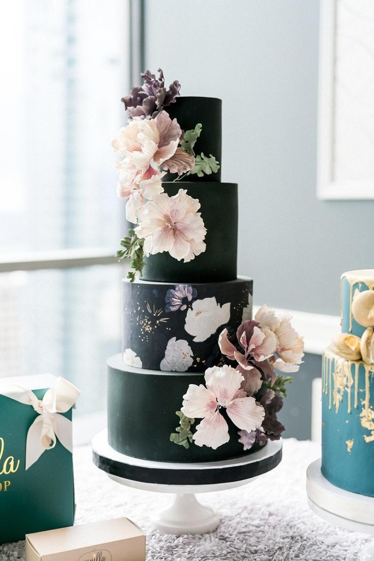 pastel-negro-dibujo-flores-opciones-estilo