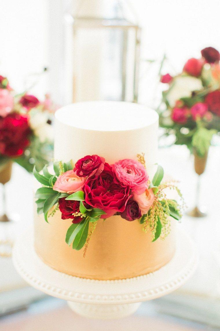 pasteles para boda-bonitos-decorado-rosas