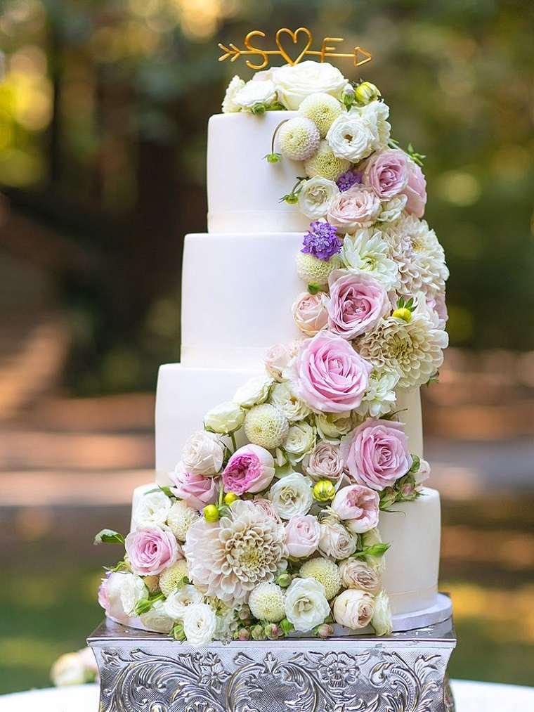 pasteles para boda-flores-bellas
