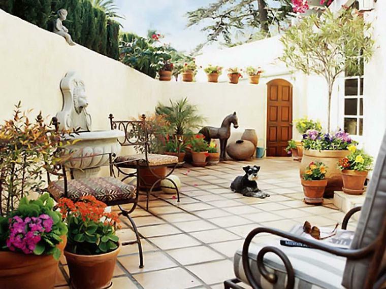 terraza de estilo mediterráneo