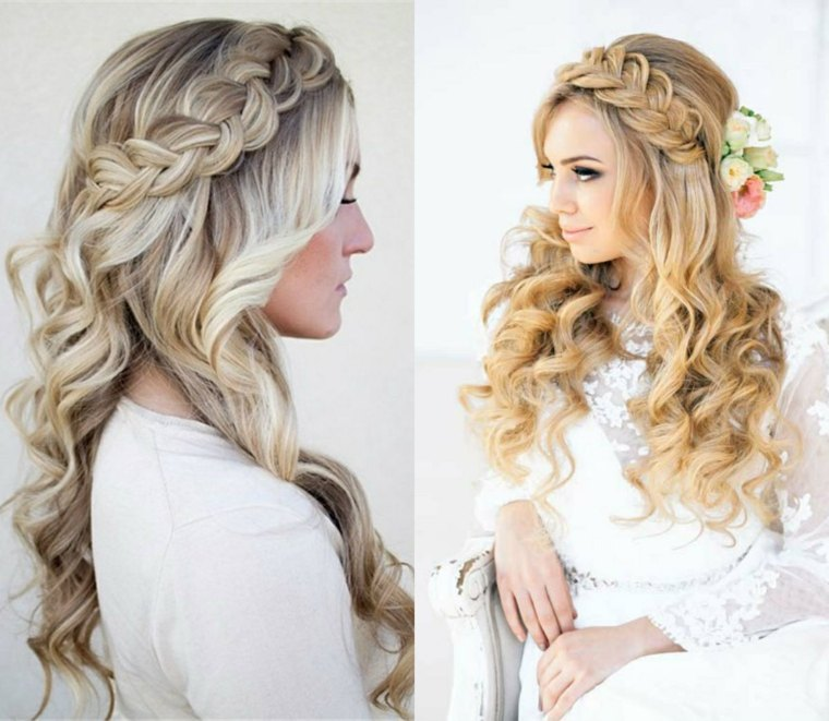 peinados cabello largo-recogido-novias