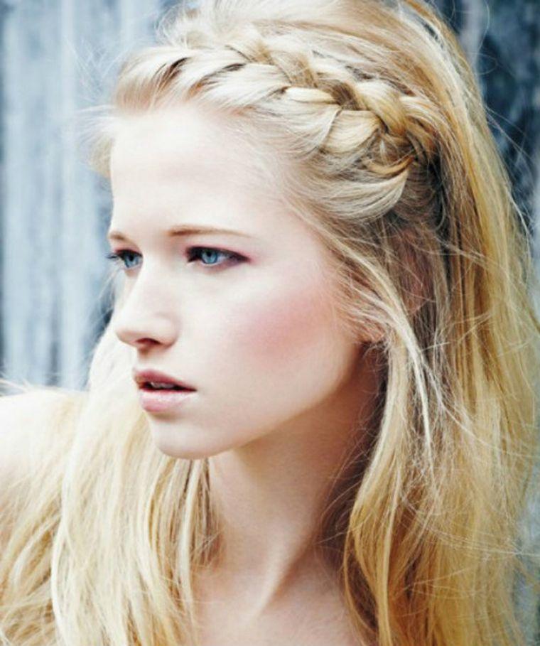 peinados con cabello recogido-semirecogido