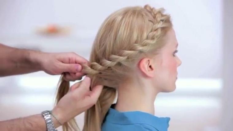 peinados con cabello recogido-trenza