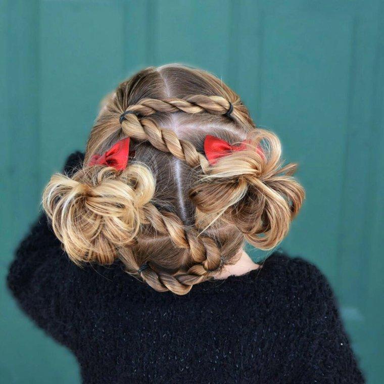 peinados con pelo recogido niñas