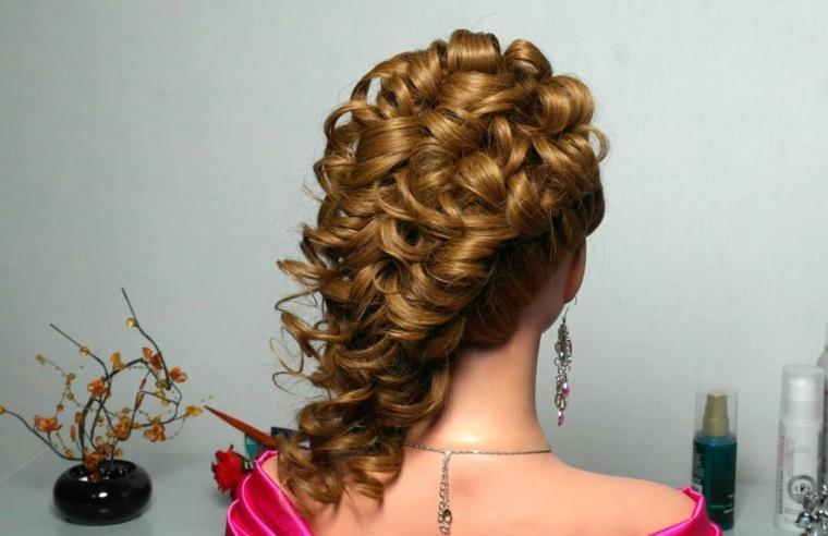 peinados con pelo recogido-semirecogido