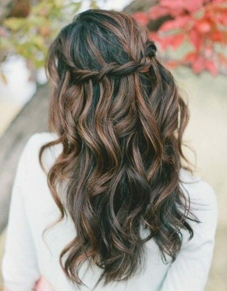 peinados con trenzas de lado-bodas