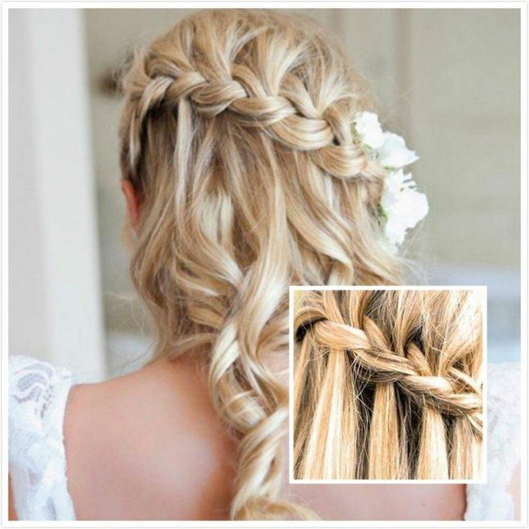 peinados con trenzas de lado-modernos-bodas