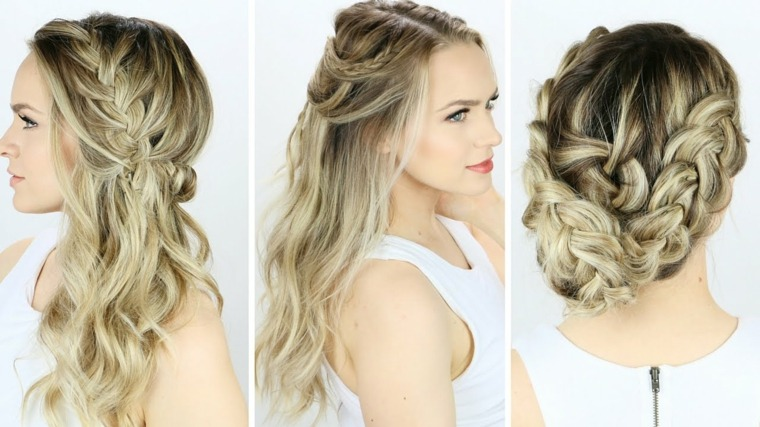 10 Lavish Wedding Hairstyles For Long Hair: Peinados Semirecogidos Con Trenzas Para Bodas Muy Modernos