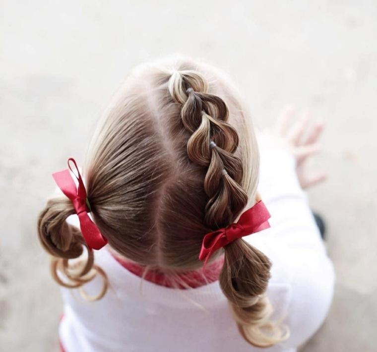 peinados de nina sencillos-modernoс