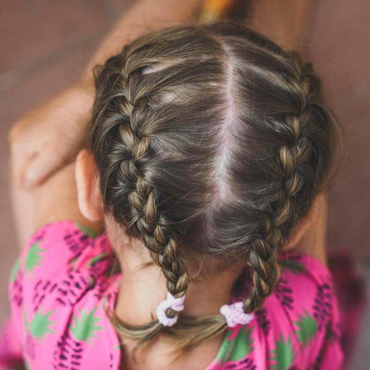 peinados de nina sencillos-trenzas
