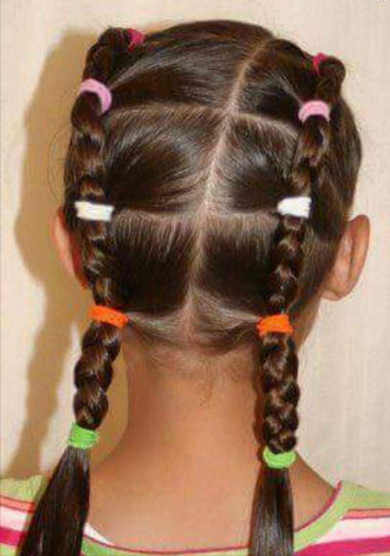 peinados de ninas-coletas-trenzas