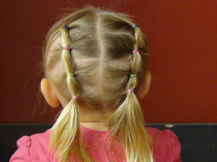 peinados de ninas-rapidos-gomas