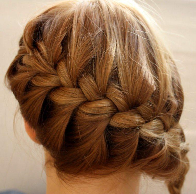 peinados de noche semirecogidos-recogidos-trenza