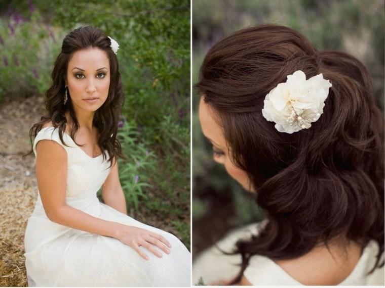 peinados de novia modernos-adornos