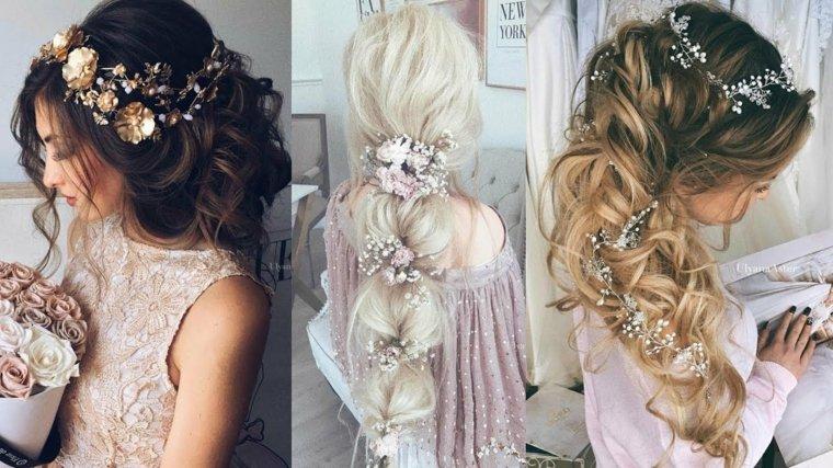 peinados de novia modernos-rizos-adornos