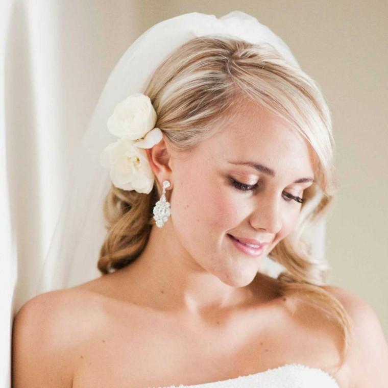 peinados de novia modernos-velo