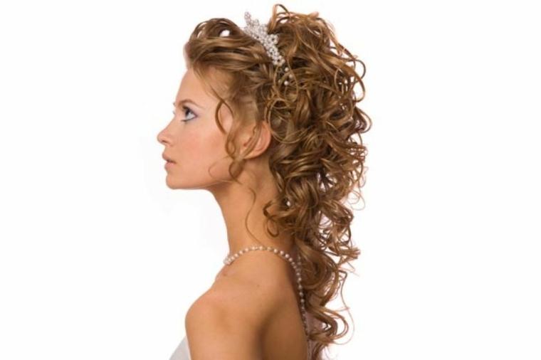 peinados de novia-semirecogidos