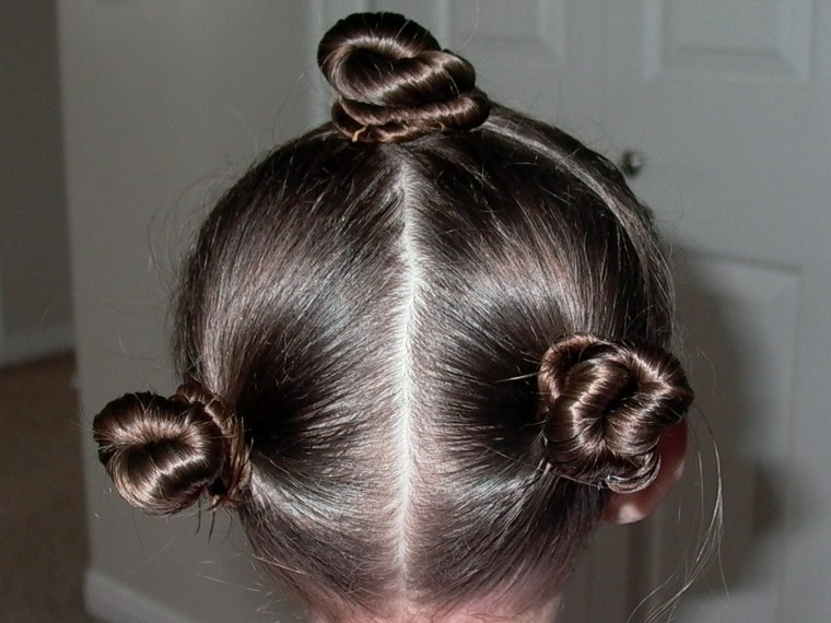 peinados faciles para ninas-monos