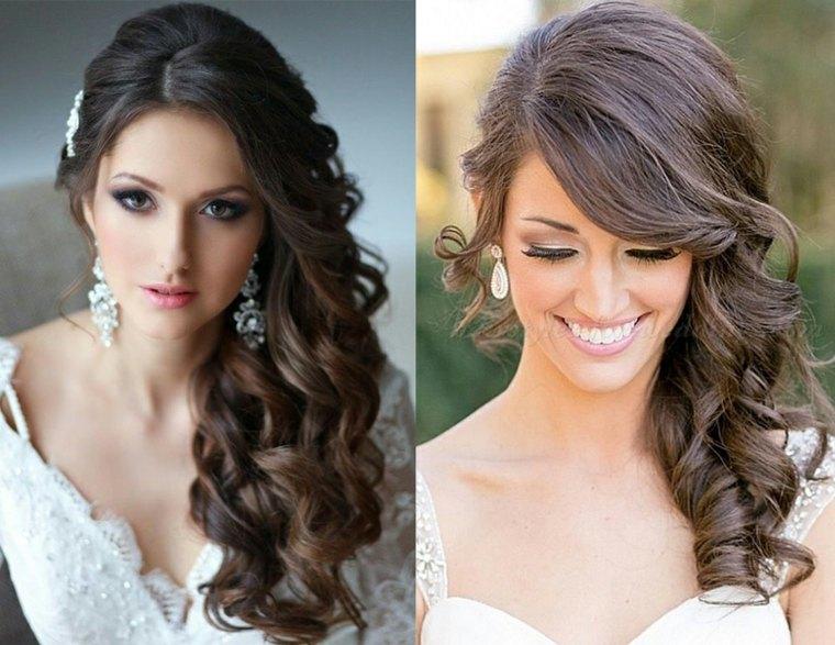 peinados medio recogidos-lado-pelo-largo