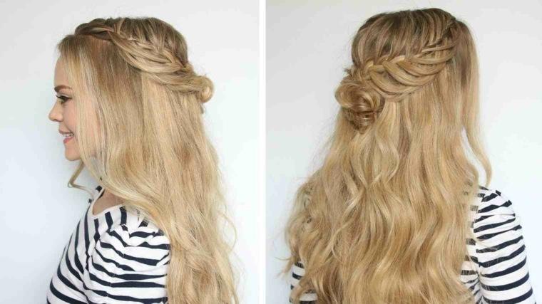peinados medio recogidos-mujeres-modernas