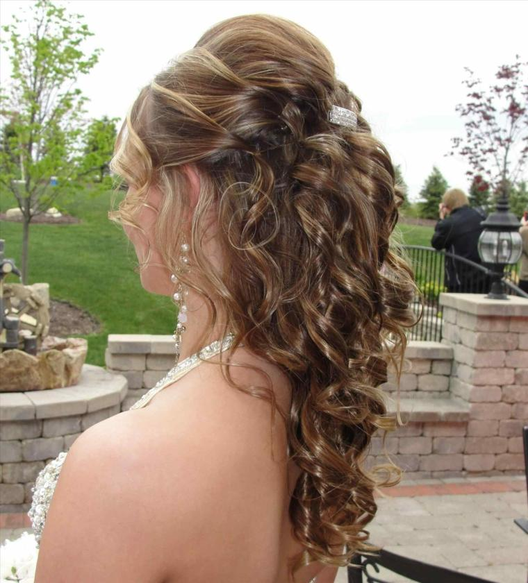 peinados medio recogidos-novia