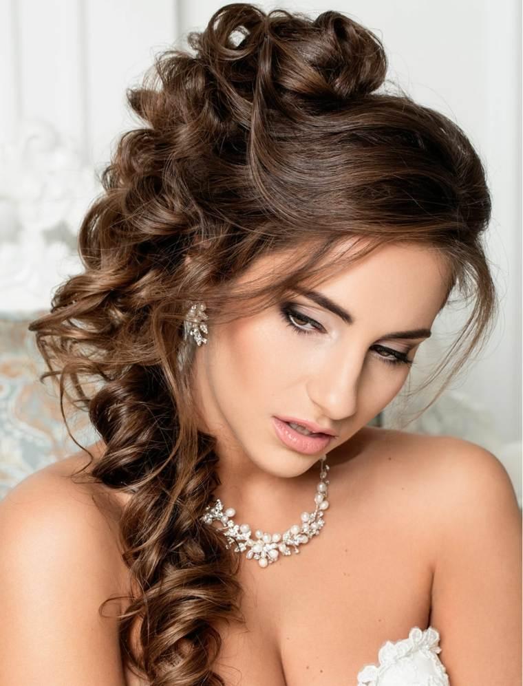 peinados medio recogidos-novias-modernas