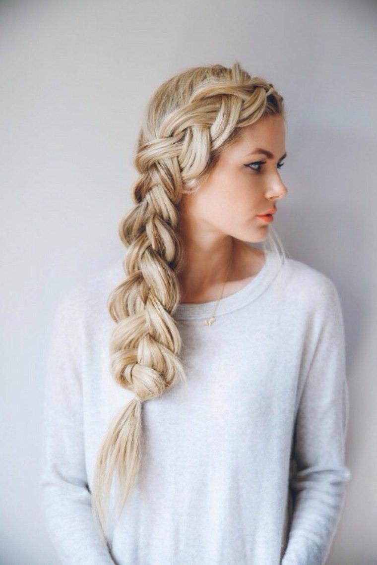 Peinados Medio Recogidos Y Recogidos De Lado Para Toda Ocasion - Peinados-con-trenzas-a-un-lado