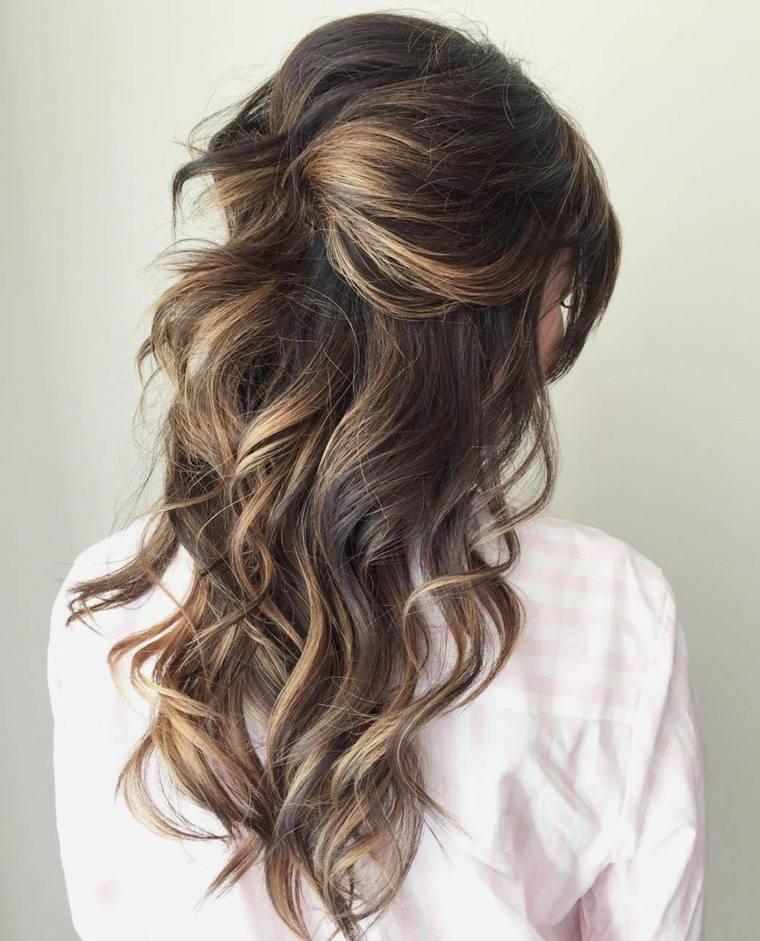 Peinados de novia modernos semirecogidos por qu elegirlos
