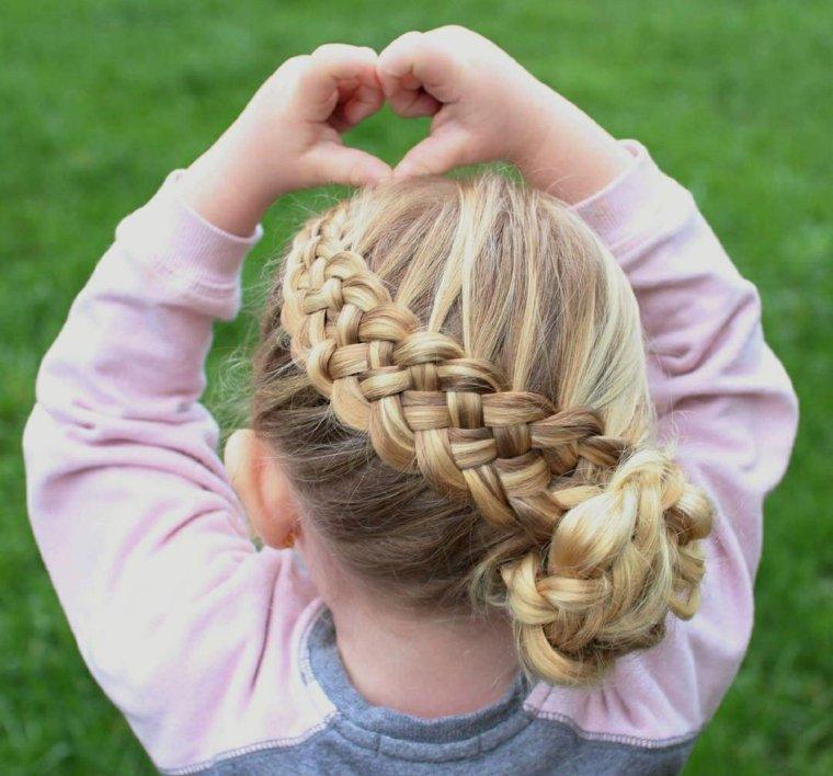 peinados para ninas-elegantes-trenzas